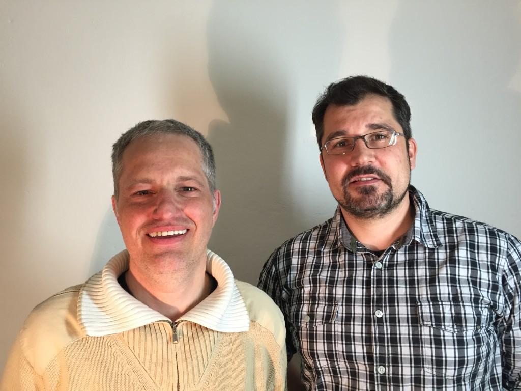 Hr. Grabinger und Hr. Schmidt vom VoIP Umstellungs-Service